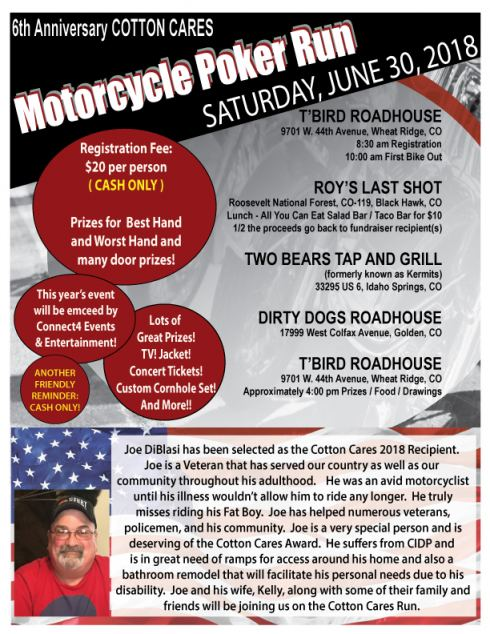 Cotton Cares 2018 Motorcycle Poker Run