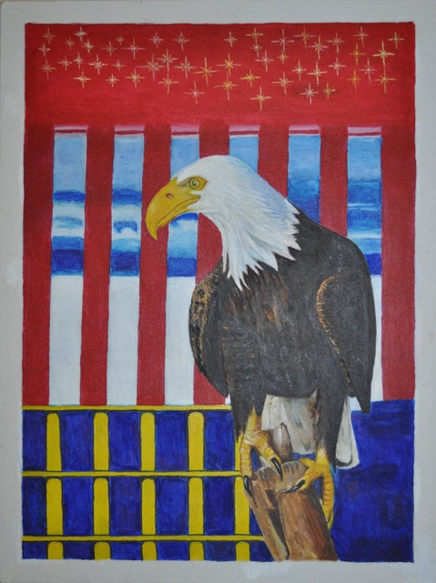 """All I See Is Freedom"" by John McKeever, one of 60 art pieces in RTA art show"