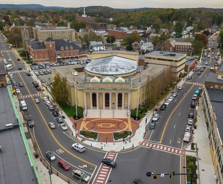 Aerial of Intersection (Downtown Framingham Improv
