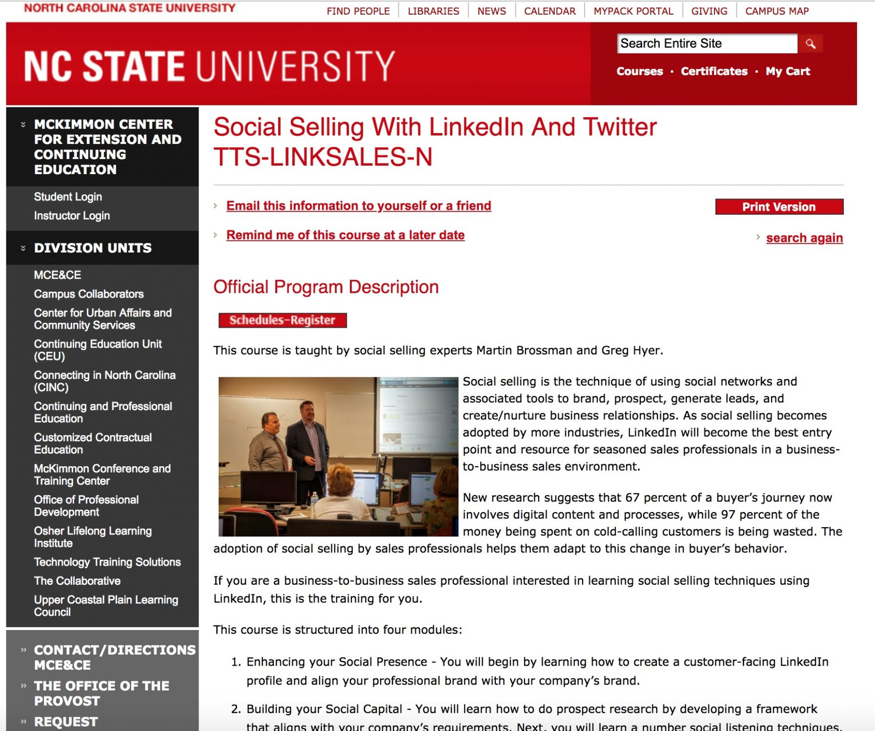 Social Selling at McKimmon Center