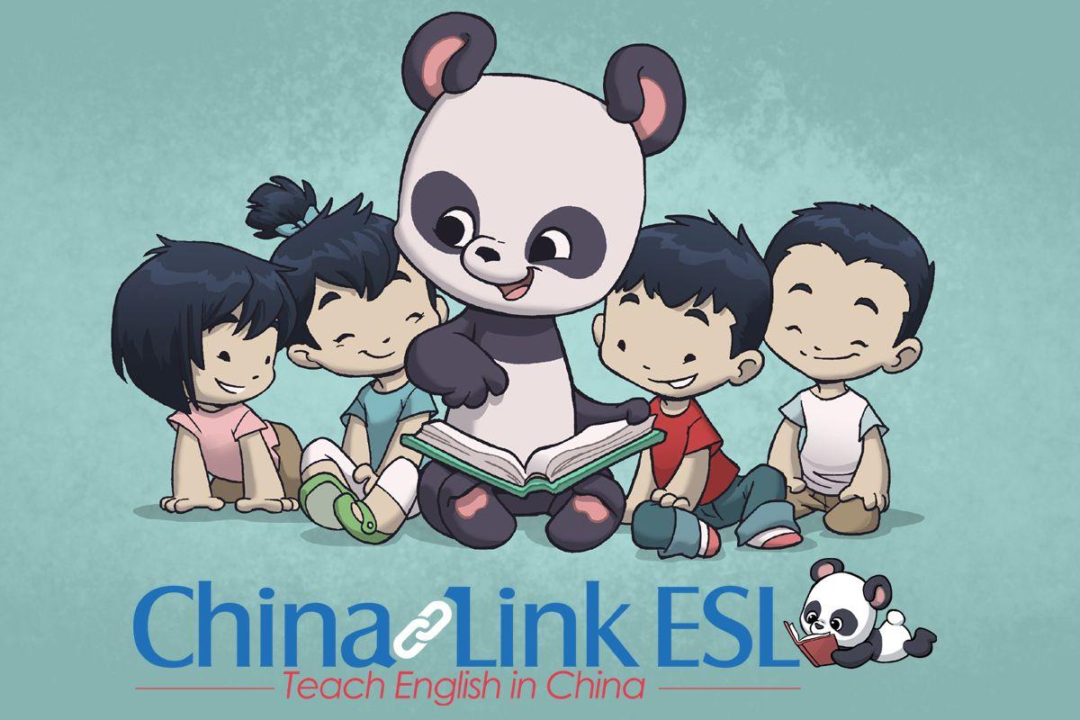 China Link ESL Panda Mascot - Teaching English in China!