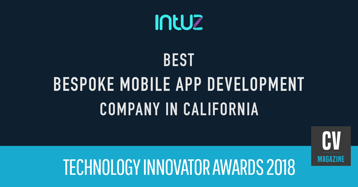 Intuz awarded as the Best Bespoke Mobile App Development Company in California