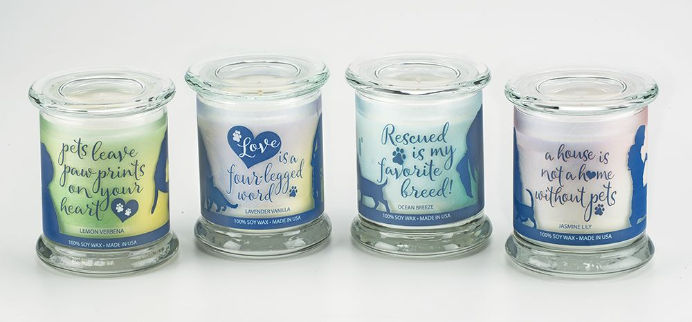 One Fur All Pet House Candles - Sentiments Collection