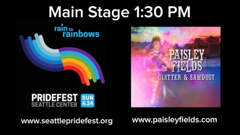 Paisley Fields To Perform At Seattle Pridefest June 24th, 2018