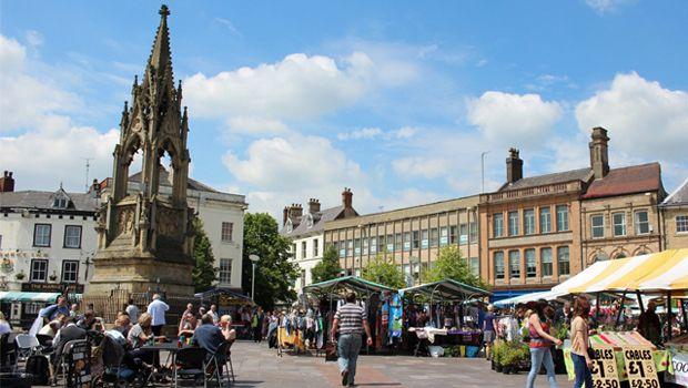 Mansfield market, UK