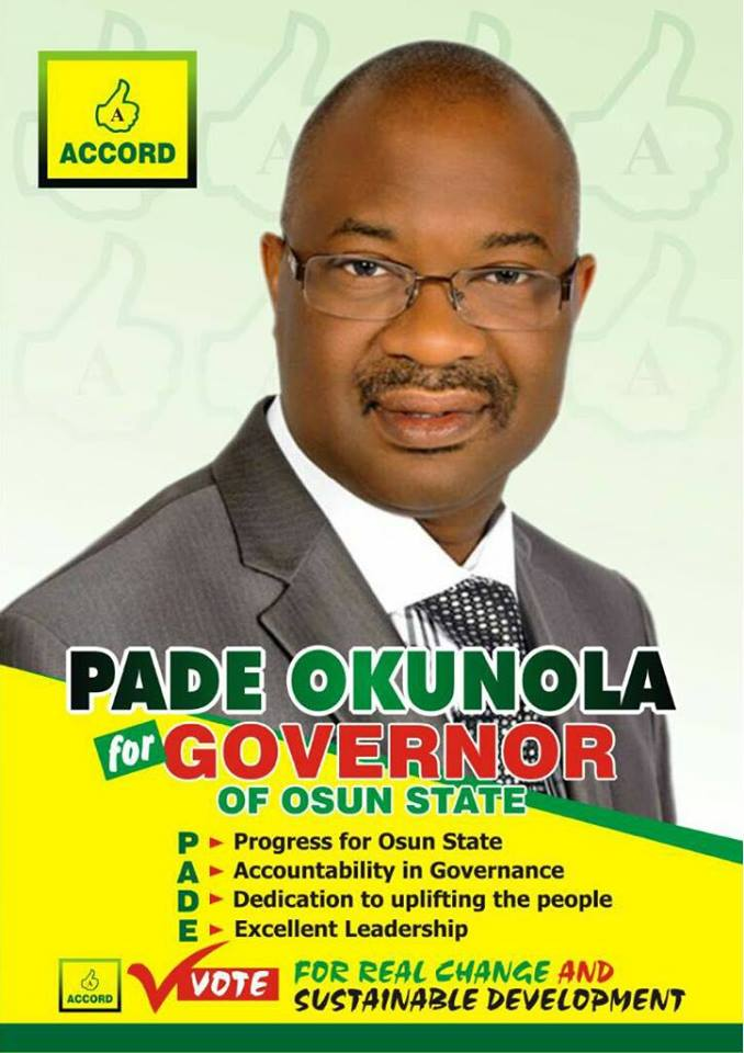 Accord Party Gubernatorial Aspirant for Osun State, Nigeria