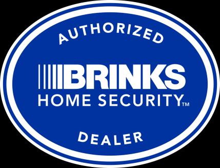 Brinks Authorized Dealer Logo - Vertical - Reverse
