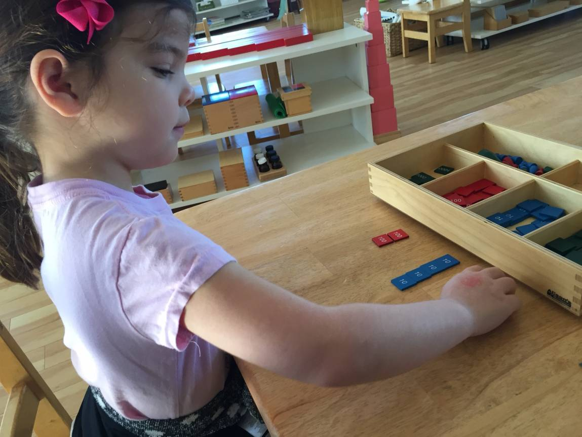 Montessori Children Complete Their Tasks