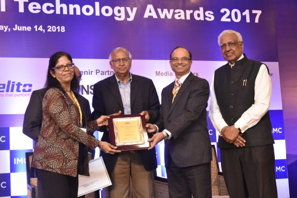 Findability Sciences recieved award from S Ramadorai former Chairman of TCS