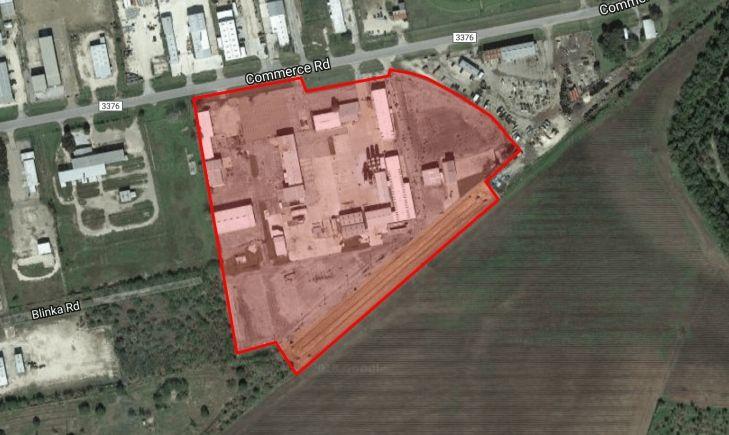 Aerial of Former Halliburton Facility