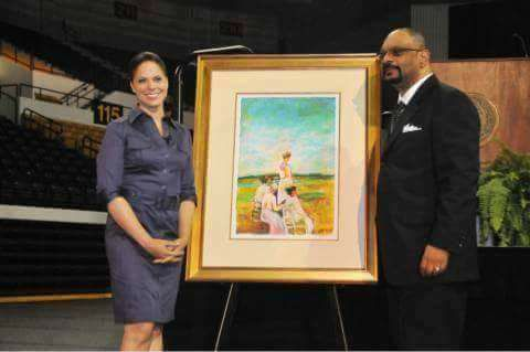 Artist Frank Kelley Jr. and Soledad O'Brien