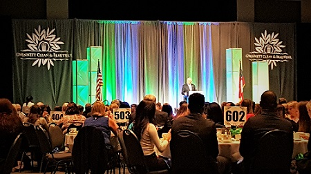 Governor Deal Speaks Before A Room Full of Local Leaders during 2017 Address