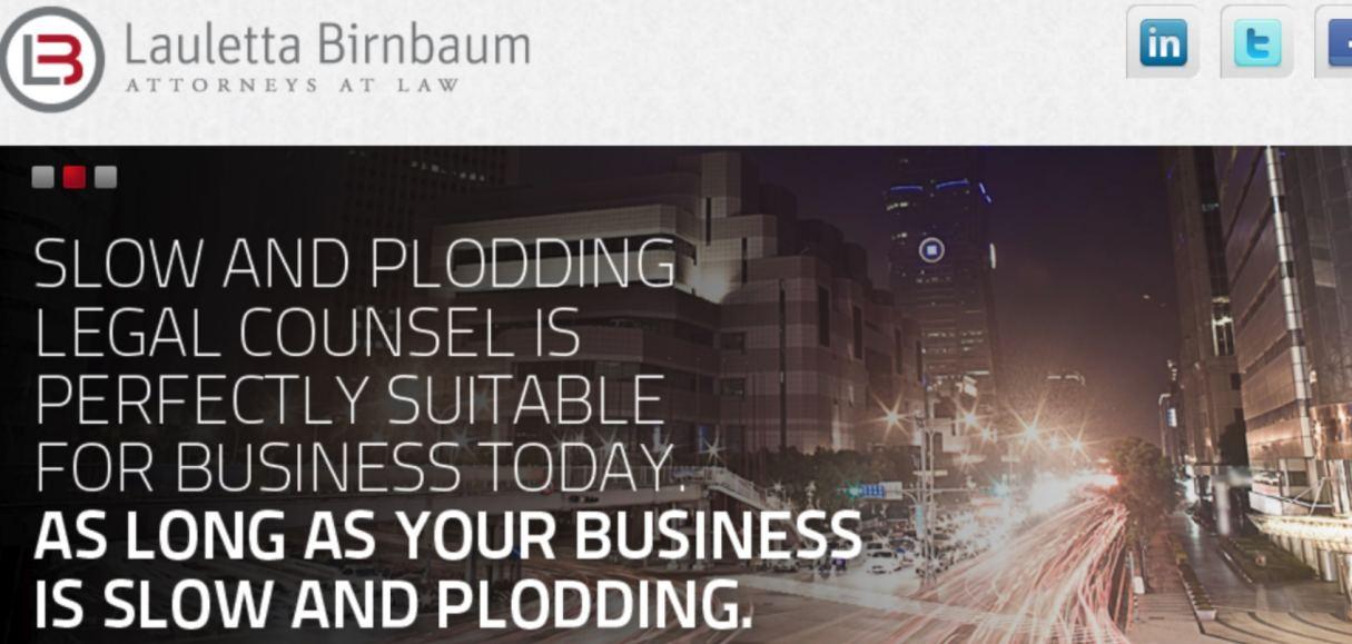 Website of Lauletta Birnbaum, Frank Lauletta, Esq.