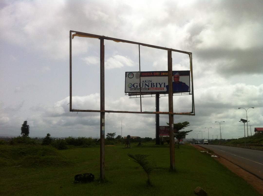 Blank Space Where Pade Okunola's Billboard Was before June 17, 2018