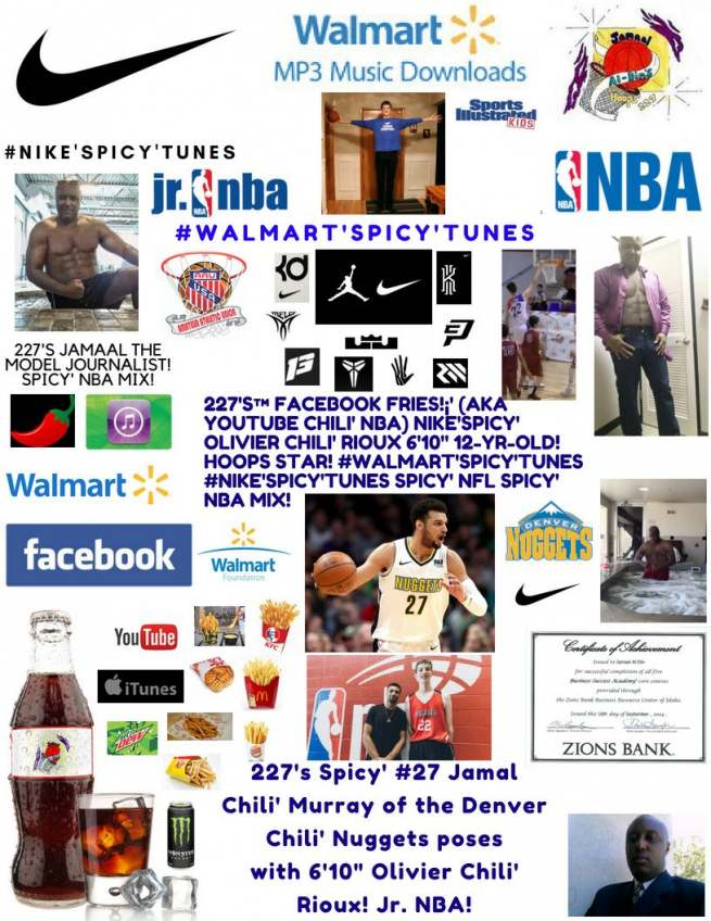 "227's Facebook Fries!¡' (aka YouTube Chili' NBA) #Nike'Spicy' 6'10"" 12-Yr-Old"