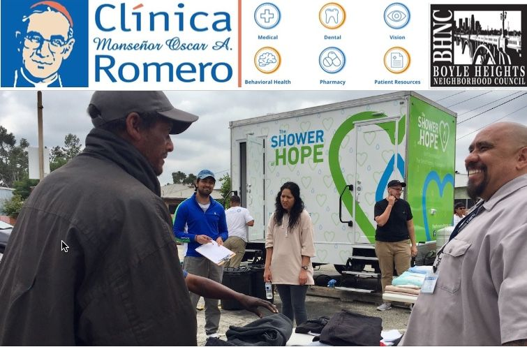 Clinica Romero supports local homeless with Shower of Hope