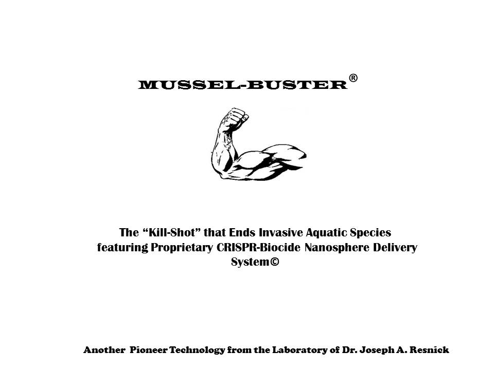 Logo for Mussel-Buster Bioremediation Products, Patent Pending Approval