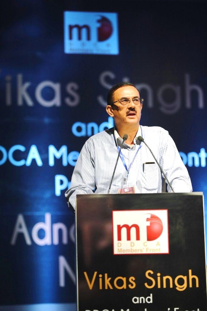 Mr. Vikas Singh, Presidential Candidate, DDCA addr