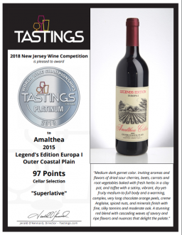 2018 Tastings Award - Amalthea Cellars