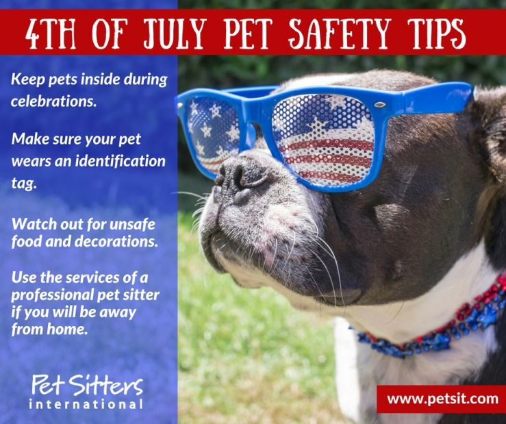 Fourth of July pet safety tips from Pet Sitters International
