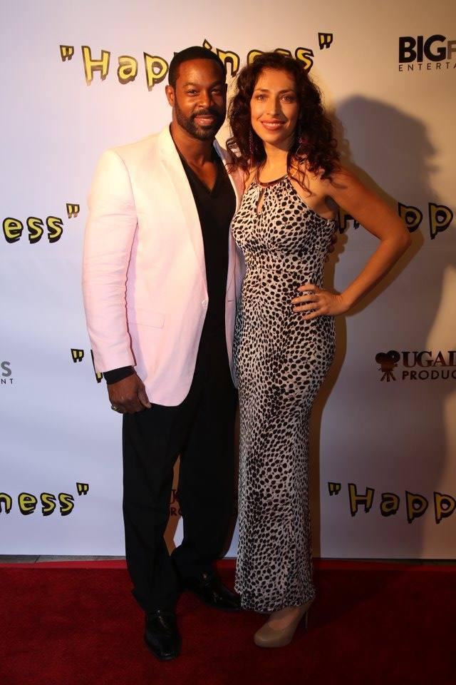 Premiere of Happiness Sandra with felow actor Darr