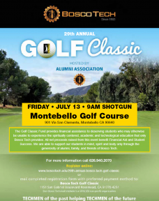 Bosco Tech Golf Classic is July 13