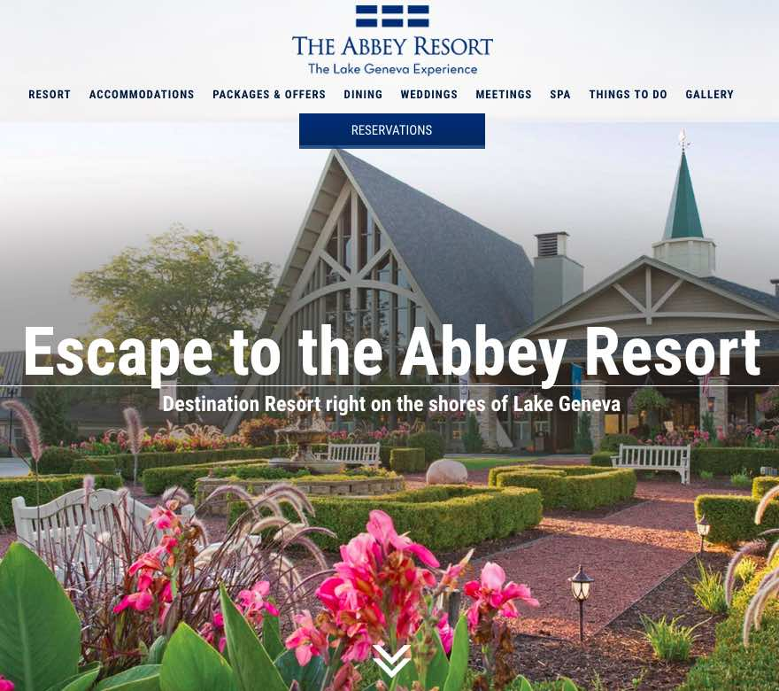 New Website for The Abbey Resort