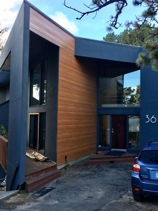 metal siding on modern home