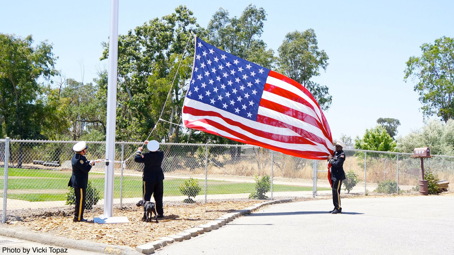 Flag Raising at the OFP Canine Education Center