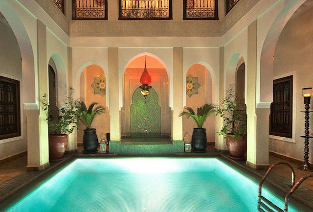 Heated pool in the luxury riad