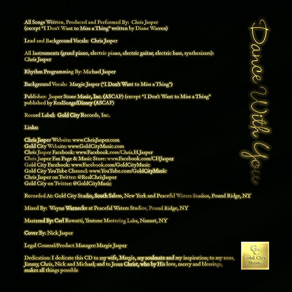 Dance With You-CD Liner Notes