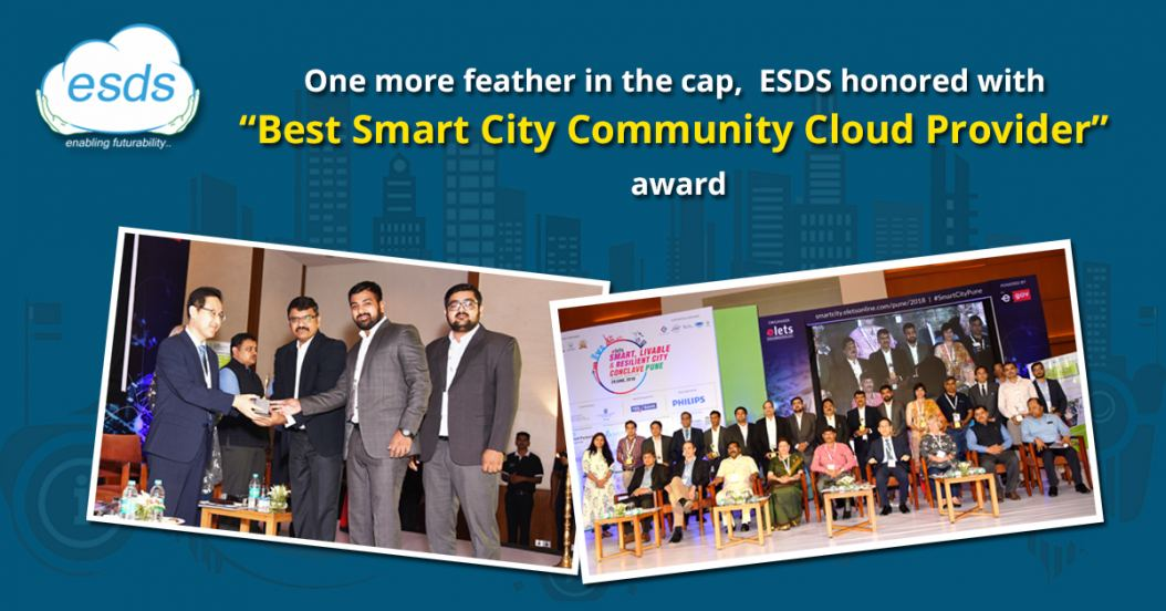 ESDS bestowed with 'Best Smart City Community Cloud Provider' award