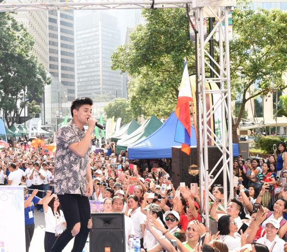Ronnie Alonte at the Just Love Araw-Araw in Hong Kong