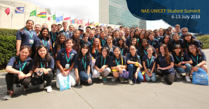 Student ambassadors visited New York for the NAE–UNICEF Student Summit
