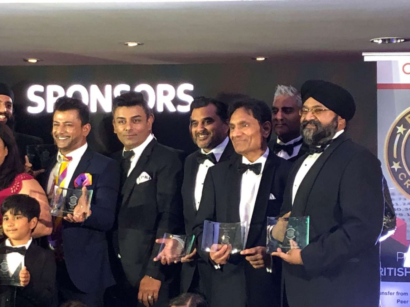 Sukhi Wahiwala alongside fellow award winners