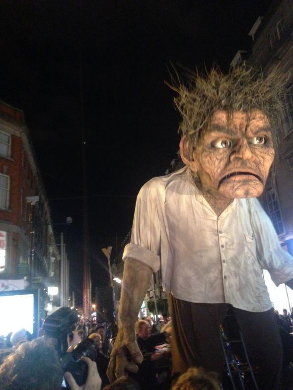 Macnas Parade in Dublin at Halloween