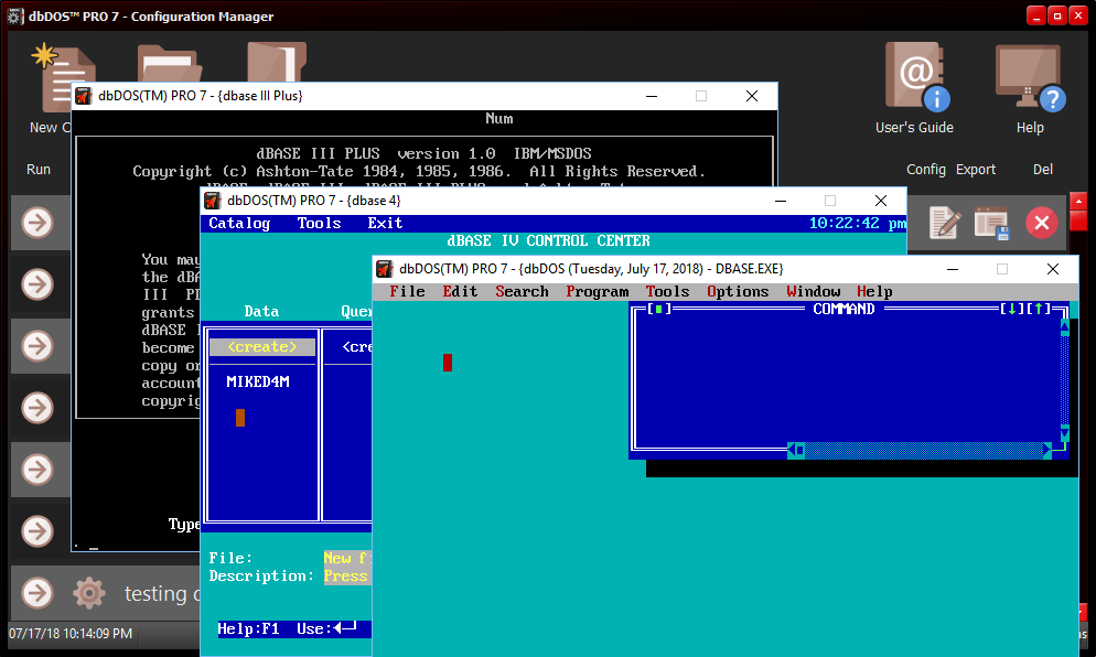 The New Dbdos Pro 7 Is The Most Complete Ms Dos Emulator On The Market Today For Microsoft Windows 64 Bit Operating Systems Dbase Llc Prlog