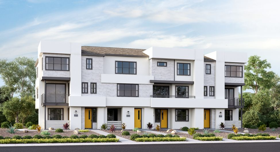 Boulevard at Millenia presents upscale new townhomes for sale in Chula Vista.