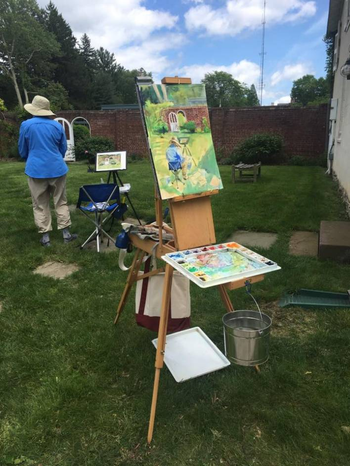 Barbara DiLorenzo's Plein Air in Morven's Gardens