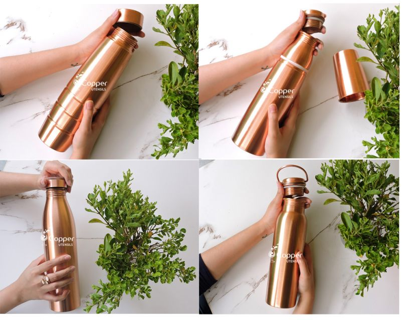 Exclusive Collection of Matte Seamless Copper Water Bottles