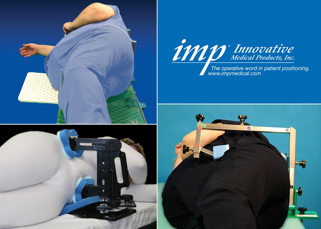 A selection of IMP's family of hip positioners
