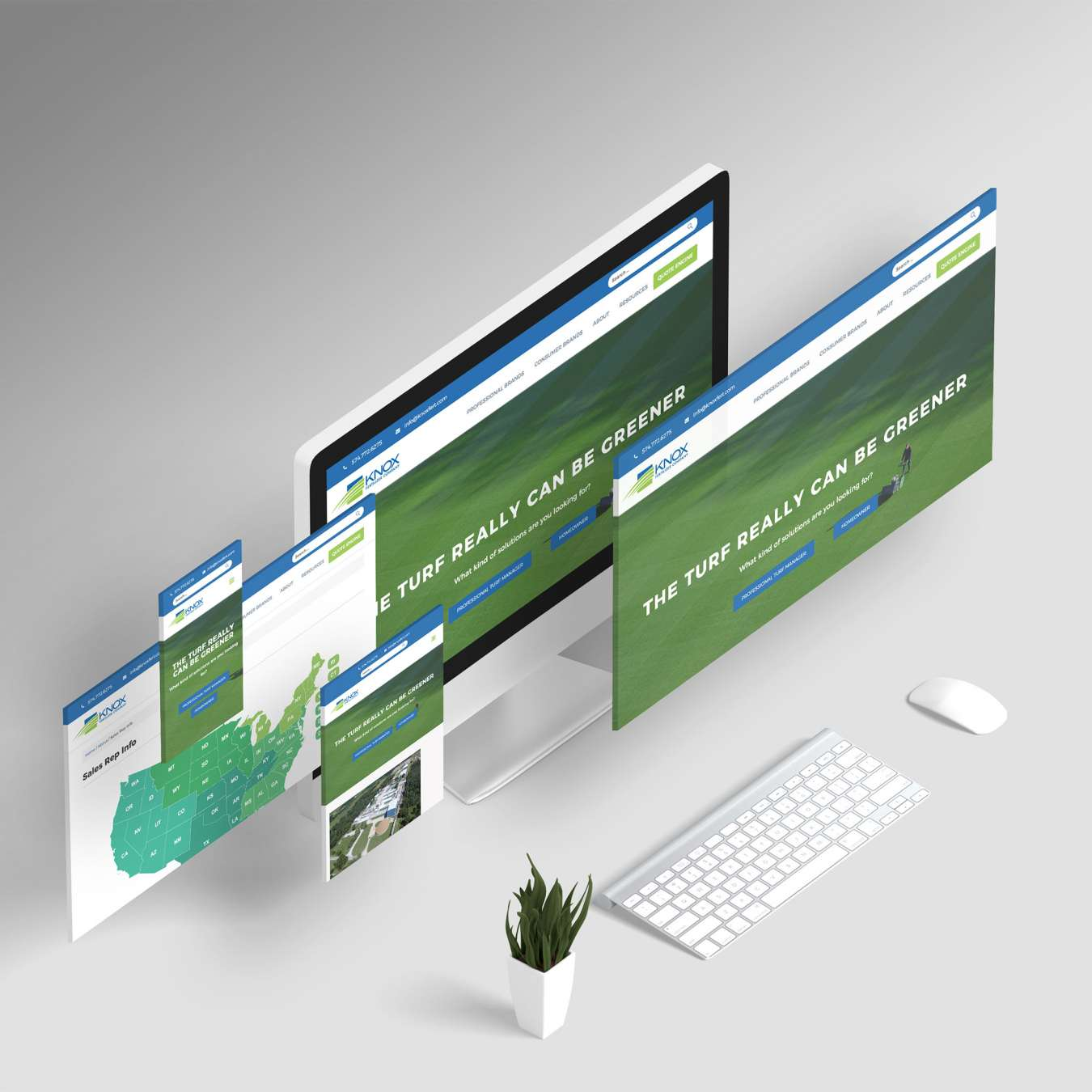 The totally redesigned responsive site for Knox Fertilizer Company