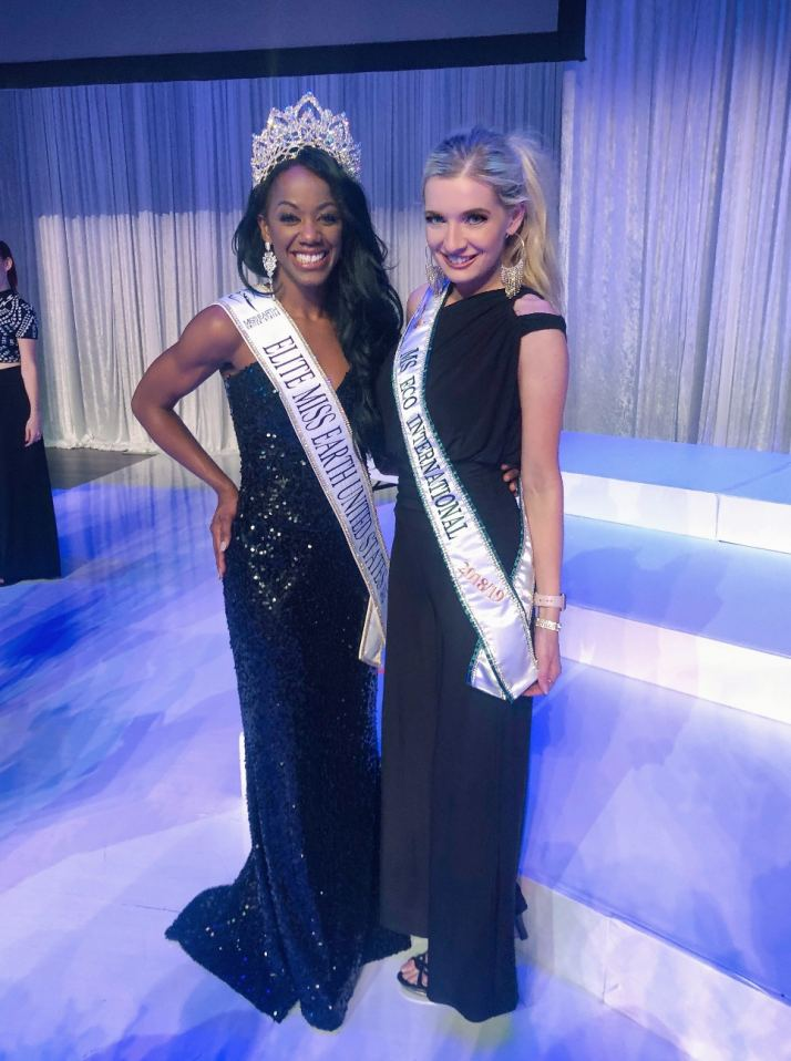Keyace Sims (left) Amanda Sowards, Ms ECO International (right)