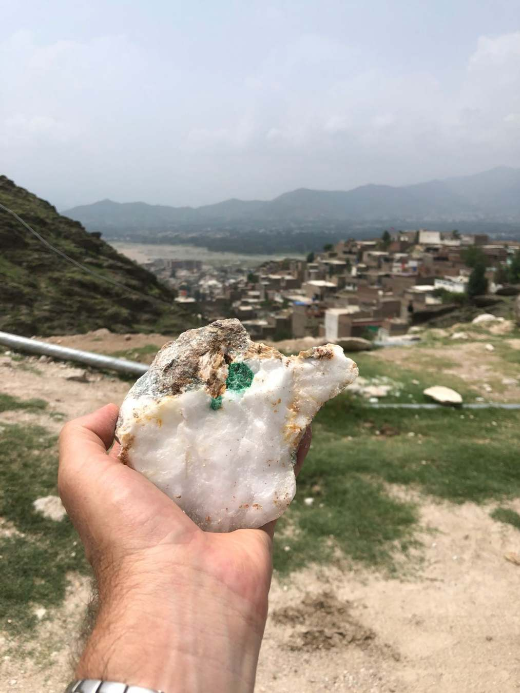 Emerald in the rough, Swat Valley