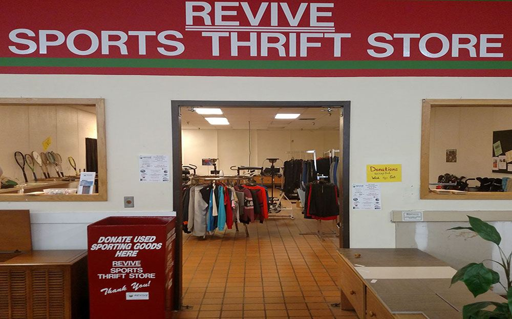 Exterior of Revive Sports Thrift Store; Photo Courtesy of Dan Rutt