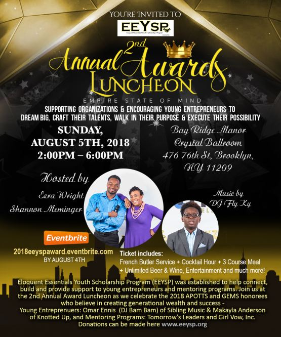 E.E.Y.S.P 2nd Annual Awards Luncheon & Fundraiser