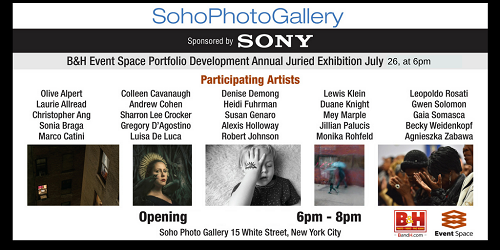 Soho Photo Gallery Annual Exhibition July 26 at 6pm