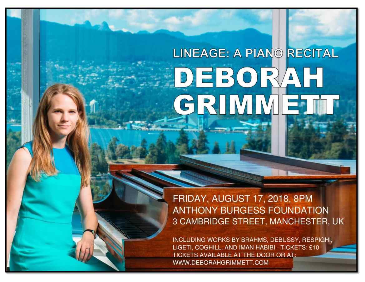 Deborah Grimmett Piano Recital Manchester