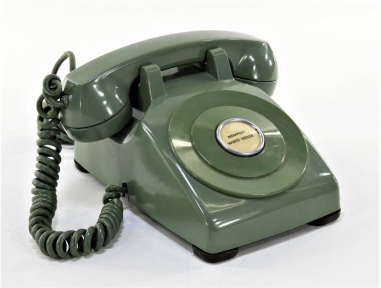 Phone from President Eisenhower's summer White House residence in Newport, R.I.