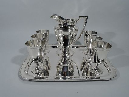 tiffany sterling silver antique drink set with pit